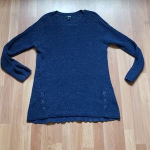 A.n.a navy blue sparkly long knit sweater